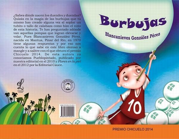 Portada del libro Burbujas, de la escritora Blanca Nieves González.