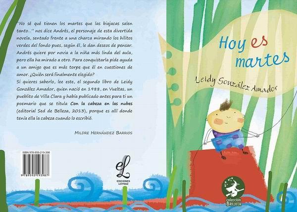 Portada del libro Hoy es martes de Leidy González Amador