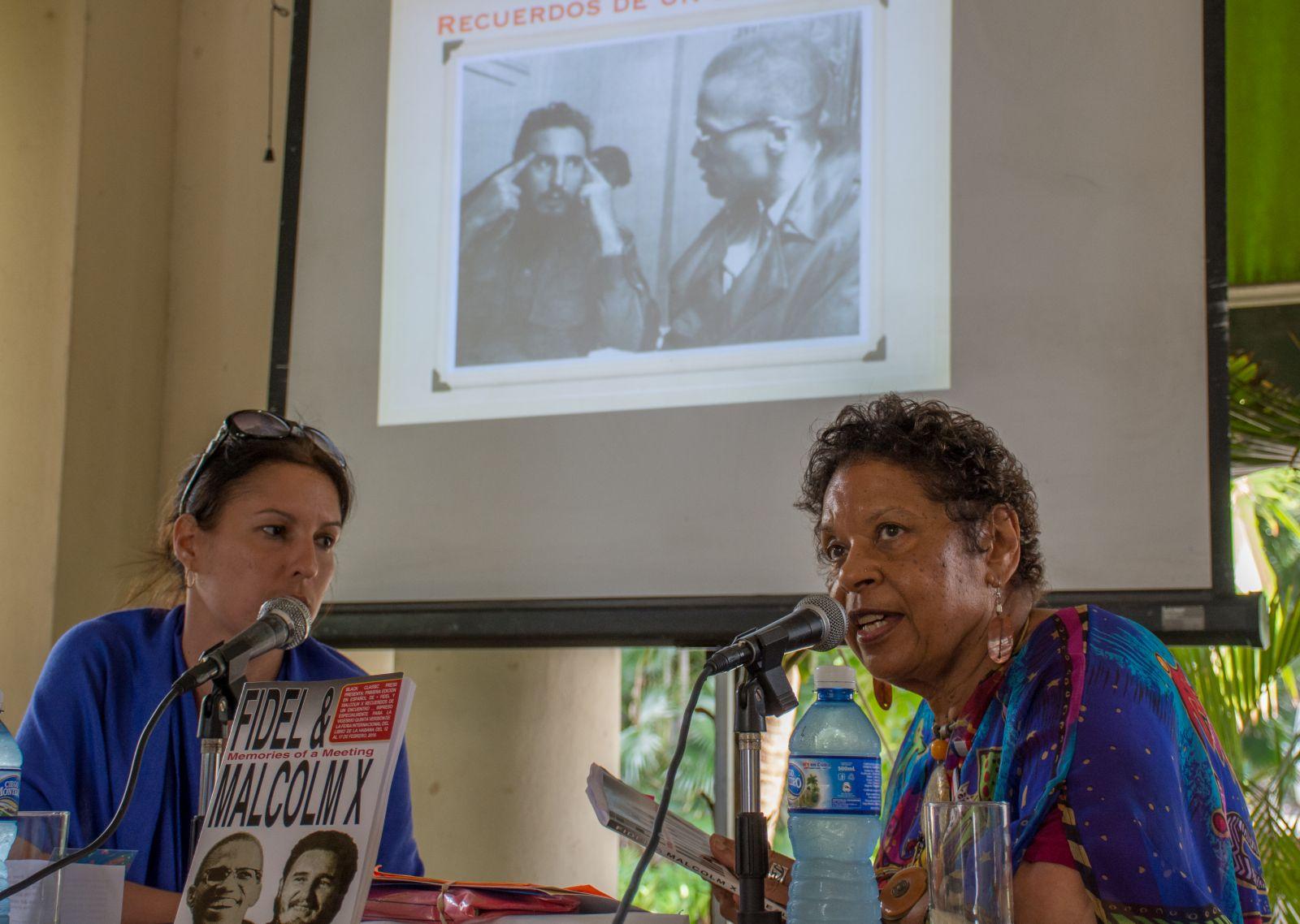Presentan Libro Fidel y Malcolm X Memorias de un Encuentro. Foto: Mariela Smith