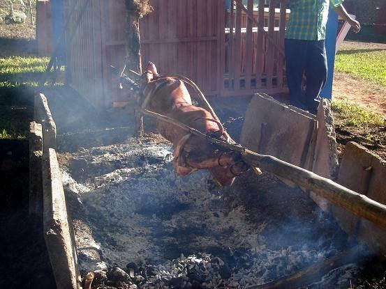 Puerco asado. Foto: Aroldo García
