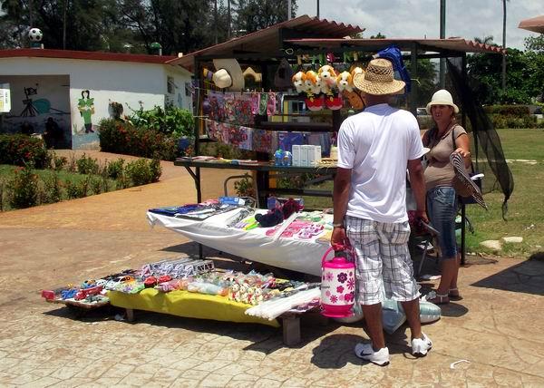 Punto de venta en el parque de diversiones