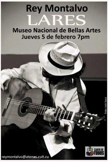 Trovador yumurino Rey Montalvo se presentará en Bellas Artes