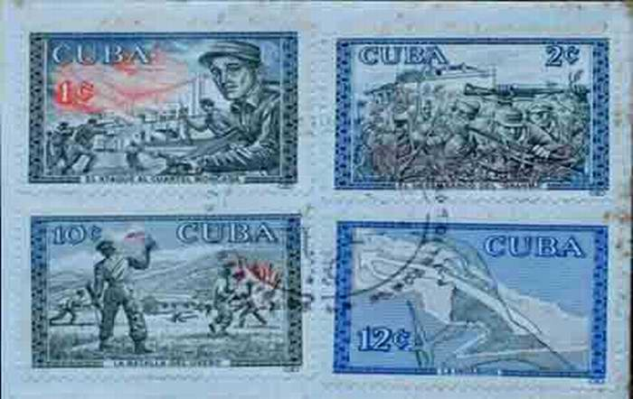 Sello que recuerda las gestas libertadoras de Cuba