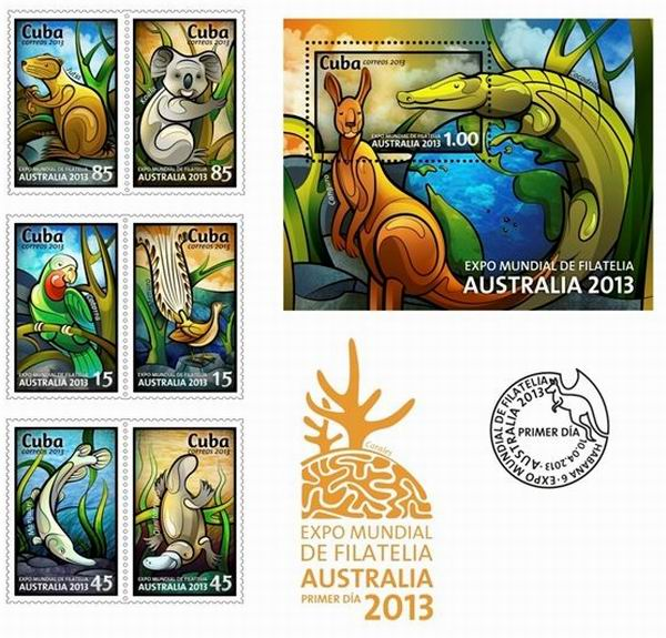 Cuba with Six Collections at World Philatelic Exhibition in Australia