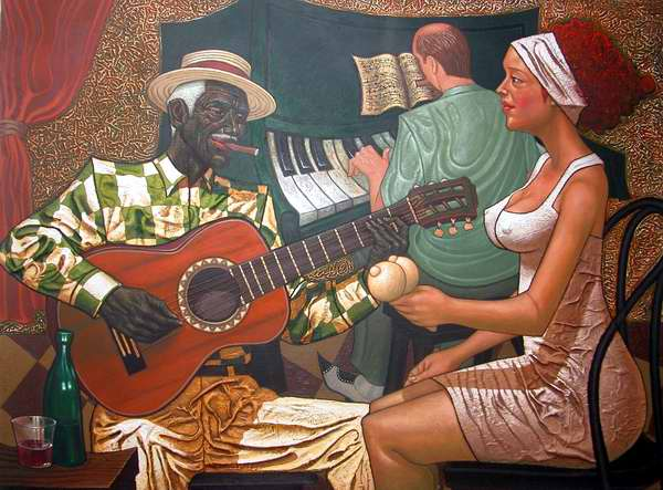 Obra Un bolero para ti del artista Miguel Ángel Arzuaga. Foto Abel Rojas