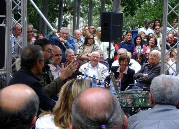Presentación de Viajes de Miguel Luna de Abel Prieto. Foto de la autora