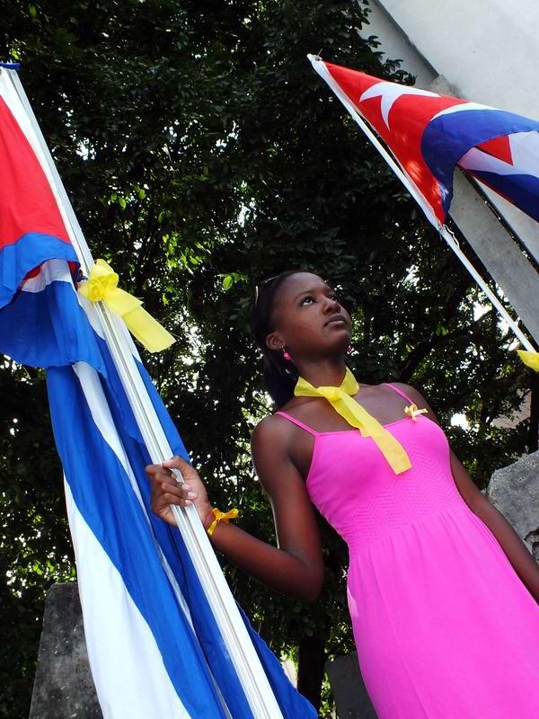 Universitarios cubanos protagonizan vigilia por Los Cinco. Foto: Abel Rojas