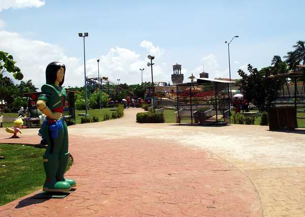 Vista del parque infantil La Isla del Coco