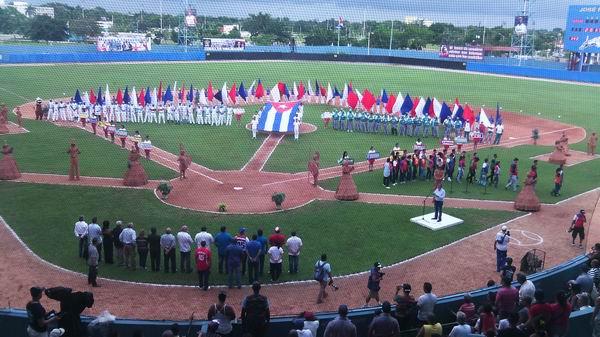 Inauguración de la 55 Serie Nacional de Béisbol. Foto: Yirsandy Rodríguez