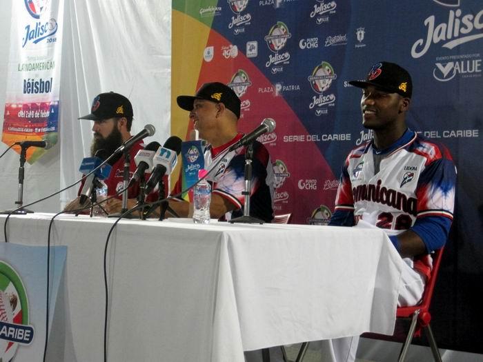 Conferencia de prensa equipo Dominicana- 60 Serie del Caribe. Foto: Guillermo Rodríguez
