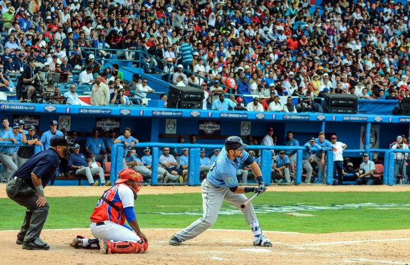 Juego de Cuba contra Tampa Bays Rays. Foto: Marcelino Vázquez