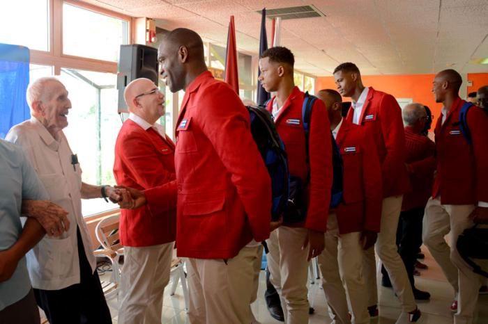 Delegación Olímpica cubana envía mensaje por el 26 de Julio. Foto: Ricardo López Hevia