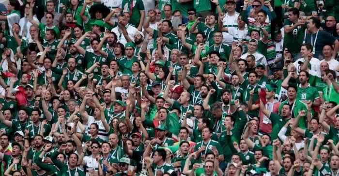 Mexicanos en el Estadio Luzniki
