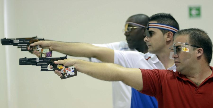 Oro para Cuba en la modalidad de pistola rápida Juegos Panamericanos de Lima en el 2019