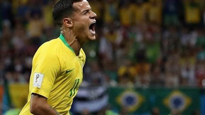 Coutinho marcó un golazo desde fuera del área al minuto 20. Foto: Reuters.