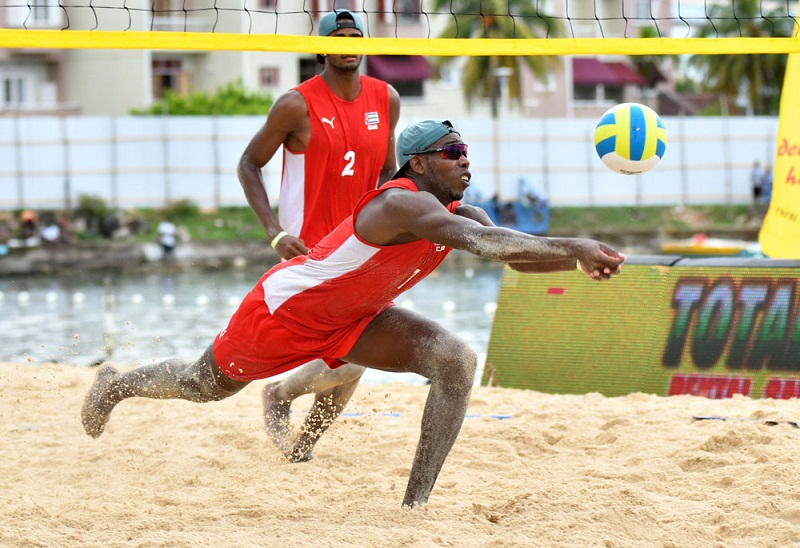 Cuban beach volleyball duo wins silver in Mexico