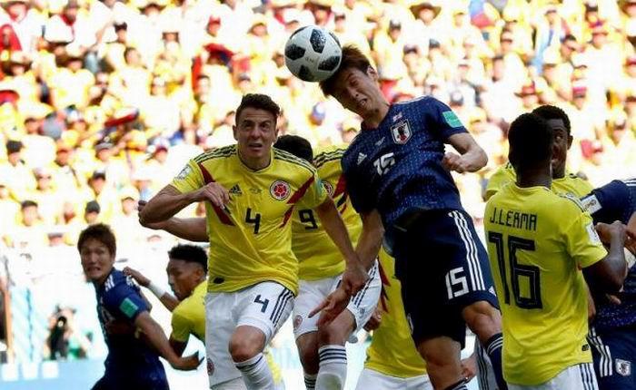 Colombia-Japón. Russia 2018. Foto: Marca