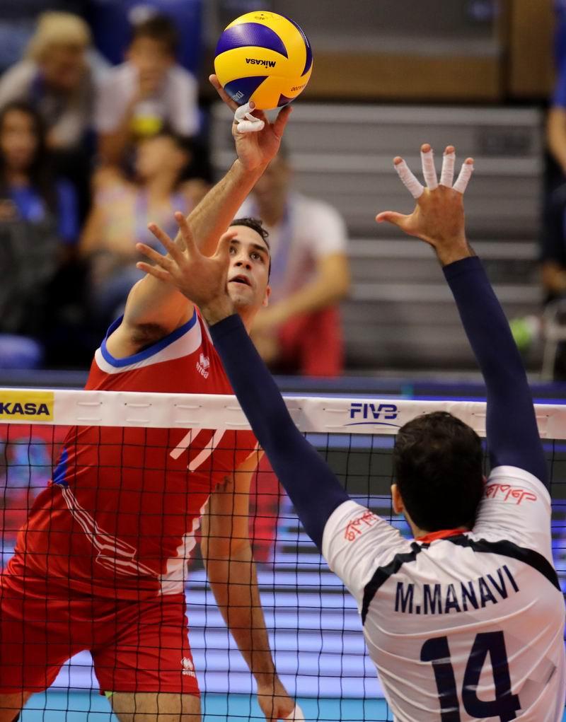 Maurice Torres, mayor anotador por Puerto Rico en el Campeonato. Foto: FIVB