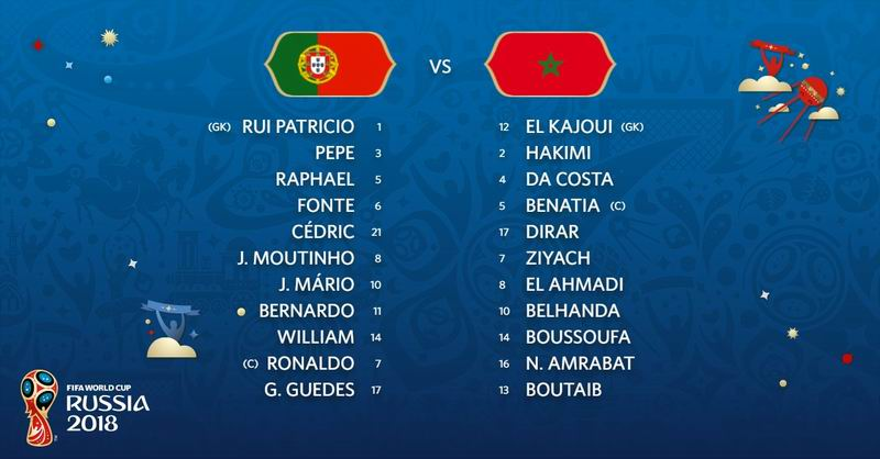 Previa Portugal vs Marruecos. Russia 2018