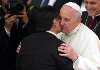 Recibe el Papa Francisco a figuras del f�tbol mundial