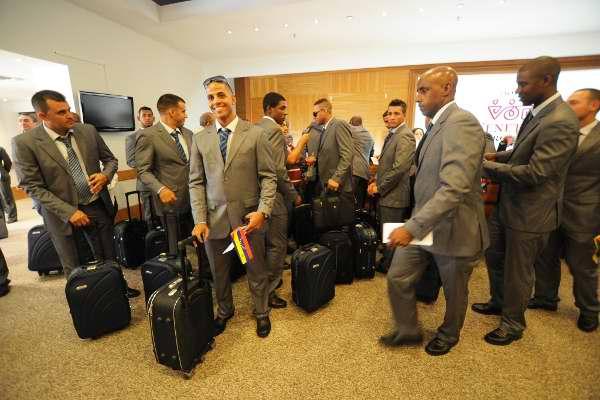 Los jugadores arribaron a las instalaciones del Hotel Venetur de Margarita, cansados de un viaje de más de tres horas. Foto Avelino Rodríguez