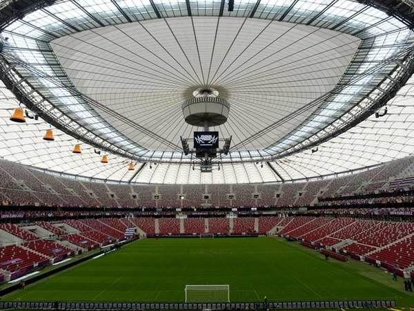 El Estadio Nacional de Polonia se completó en noviembre de 2011 y fue utilizado una de las sedes de la Eurocopa 2012 de fútbol
