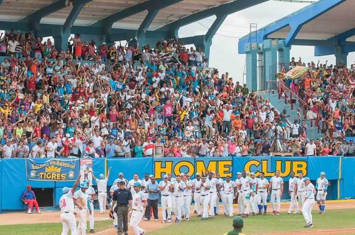 Los Tigres de Ciego de Ávila están en busca de quedarse con el tercer título en línea, que sería su cuarto en la historia. Foto: José Meriño