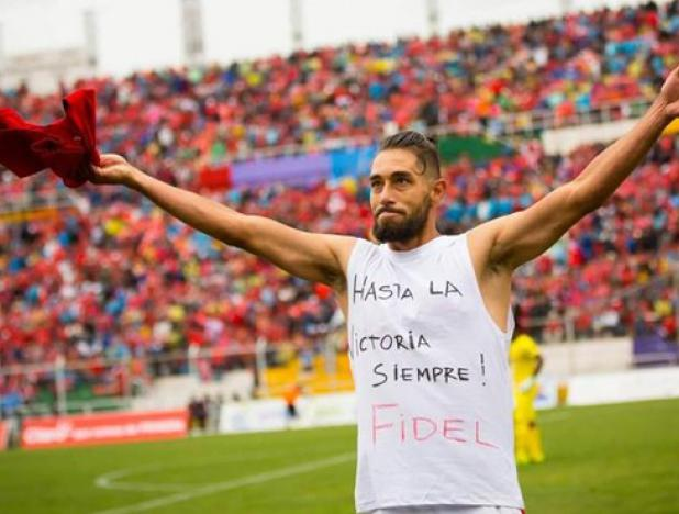 Peruvian Soccer player Paid Homage to Fidel Castro