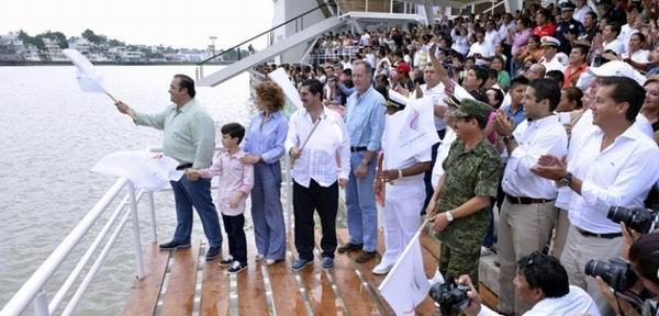 Inauguran pista de canotaje en Tuxpan para los Juegos Centroamericanos y del Caribe 2014.