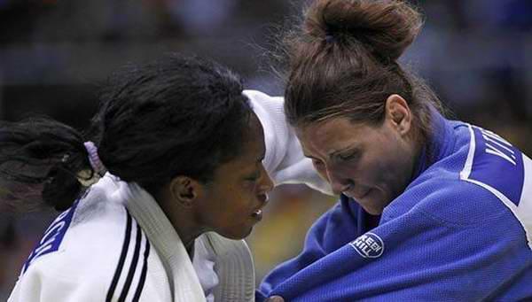 Discute bronce judoca cubana Kaliema Antomarchi en Mundial de Budapest