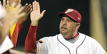 Luis Sojo, director del equipo de béisbol de Venezuela.