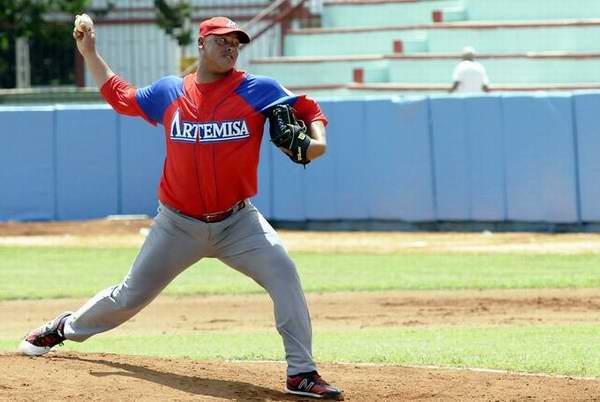 El lanzador artemiseño, Miguel Lahera, arribó a cuatro ganados y sigue siendo el as cabecera de la rotación de pitcheo.