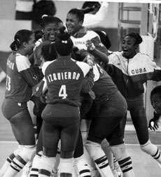 Morenas del Caribe en Atlanta 1996. Foto Bohemia