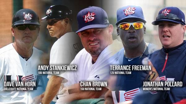 Nuevos managers para selecciones estadounidenses