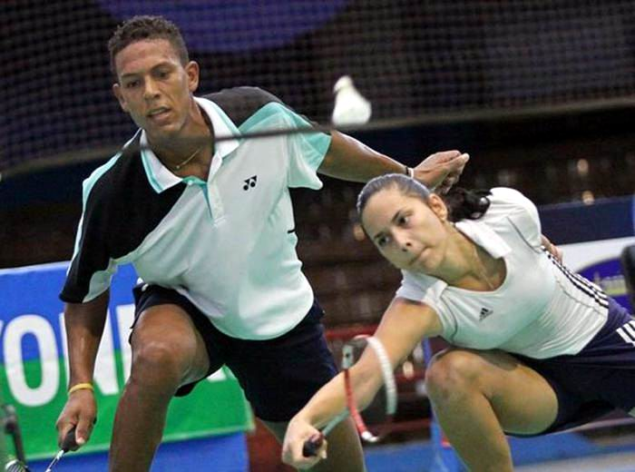 Cuban Badminton Players to their last Competition in 2017