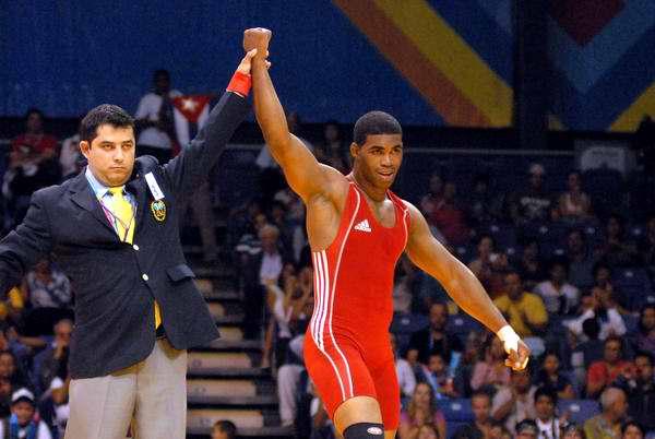 Pablo Chorey, tercer oro en lucha grecorromana. Foto AIN