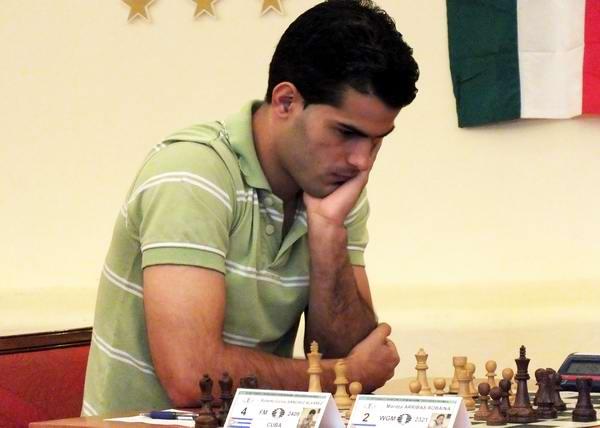 El avileño Roberto Carlos Sánchez Álvarez, Maestro de la Federación Internacional de Ajedrez. Foto Abel Rojas.