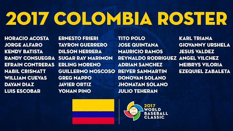 Roster Colombia