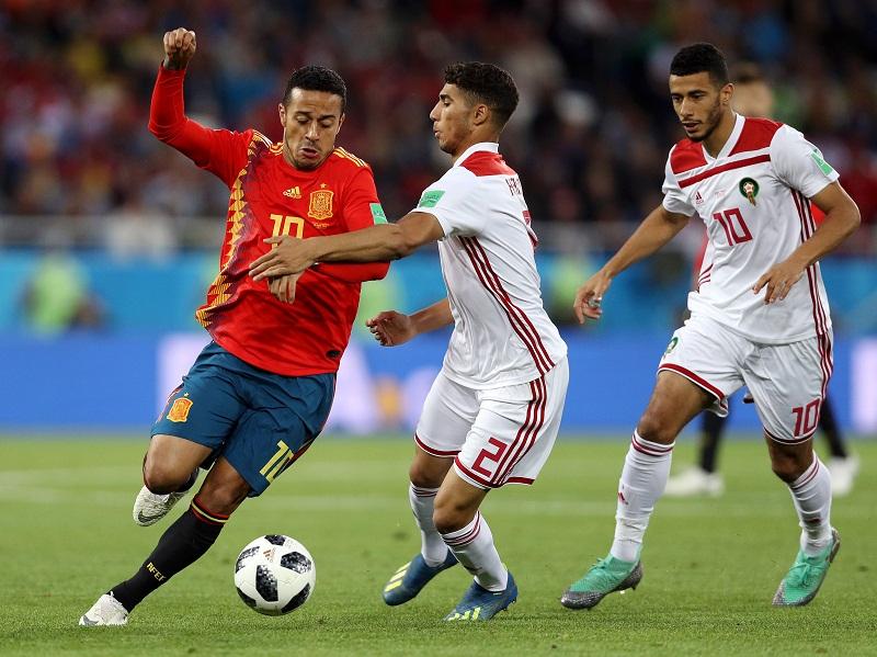 España empata con Marruecos en un duelo vibrante
