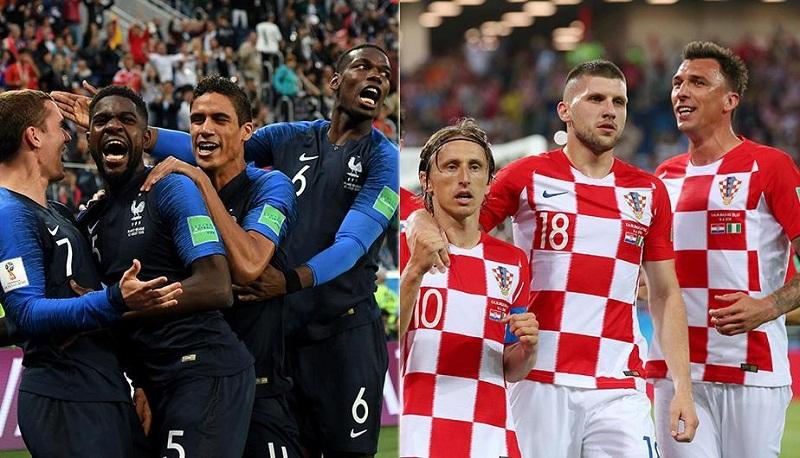 Discutirán Francia y Croacia el título del Mundial de fútbol 2018