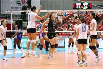 El equipo femenino de voleibol de Cuba perdió hoy 1-3 ante el de Tailandia, y se despidió del Preolímpico Mundial de Repesca de Tokio, Japón. Foto FIVB