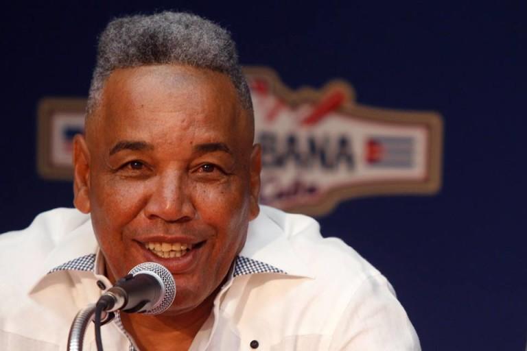 Víctor Mesa, manager de equipo Cuba que se enfretará ante Tampa Bays Rays. Foto: Roberto Morejón
