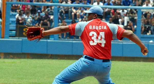 Vladimir García, lanzador de Ciego de Ávila.Foto: Juan Moreno.