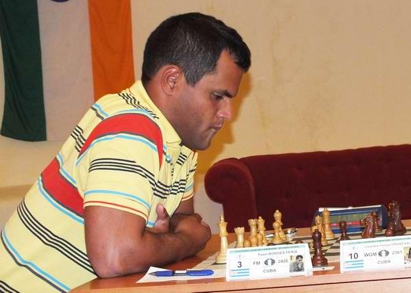 El joven trebejista Yasel Borges Feria, uno de los mejores ajedrecistas de la provincia de Matanzas. Foto Abel Rojas
