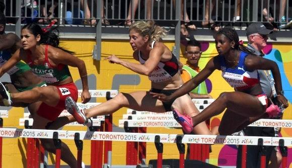 Yorgelis Rodriguez de Cuba, gana oro en el Heptatlón, en el atletismo de los XVII Juegos Panamericanos de Toronto, en Canadá, el 25 de julio de 2015. AIN FOTO/ Ricardo LÓPEZ HEVIA