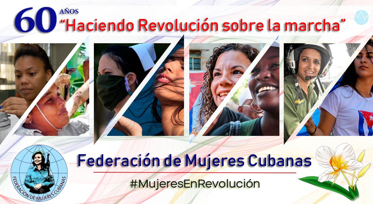 Reciben colectivos de Camagüey Bandera Aniversario 60 de la FMC