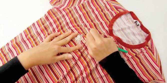 Algunas formas de quitar el chicle de la ropa