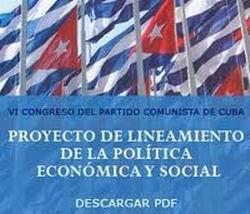 Proyecto de lineamientos de la Política Económica y Social del Partido y la Revolución