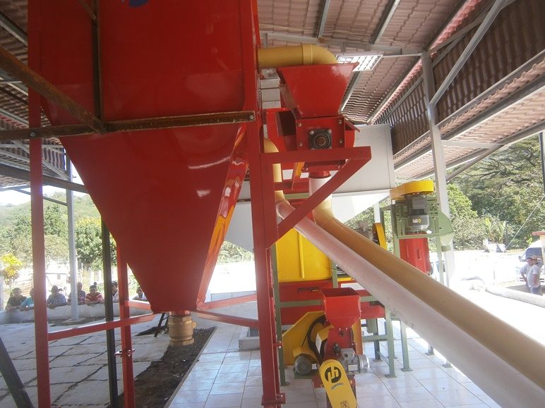 Modern ecological coffee pulper in mountains of Cienfuegos
