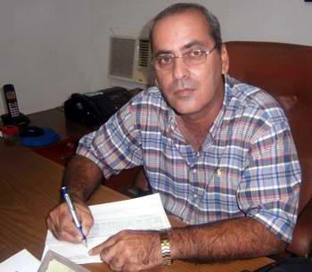Director General de la Empresa Azucarera en Cienfuegos, Arnaldo Costa. Foto Mireya Ojeda